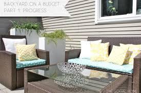 Diy Patio Furniture Outdoor Cushions Diy Sofa No Sew Furniture Bench Tamingthesat