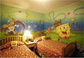 bedroom funny spongebob themed bedroom decorating ideas for kids