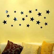 wall ideas star mirror wall decor star mirror wall decor 1set 20pcs black gold silver stars mirror acrylic wall sticker diy removable wall decals home room
