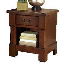 Cherry Wood Nightstands Shop Home Styles Aspen Rustic Cherry Mahogany Nightstand At Lowes