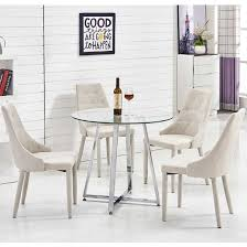 Astounding Round Glass Dining Tables And Chairs For   On Rustic - Round dining room tables for 4