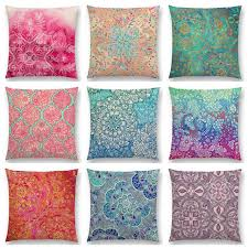 beautiful pillows for sofas sale beautiful leaf flower gorgeous floral doodle colourful
