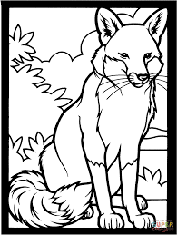 fox coloring pages throughout omeletta me