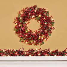 outdoor lighted christmas wreath cordless 36237 astonbkk com
