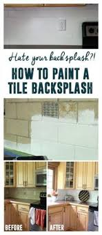 painting kitchen tile backsplash how i transformed my kitchen with paint painted tiles and