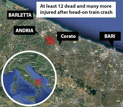Italy Map By Rail Italy by Train Crash In Italy Leaves At Least 10 Dead Near Bari Metro News