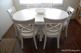 Dining Room Tables Beforeafter Its Overflowing Regarding - Crate and barrel dining room tables