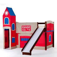 Boys Bunk Beds With Slide Bunk Bed With Slide Flexa Bed Slides Fun And Safe For Loft Beds