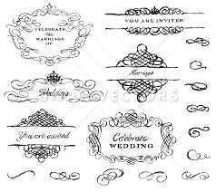 vector illustration of wedding ornament set snap vectors
