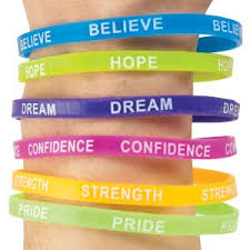 rubber wrist bracelet images Thin rubber inspirational bracelets kids love stickers from jpg