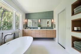 Dual Vanity Bathroom by Floating Double Vanity Bathroom Midcentury With Floating Vanity