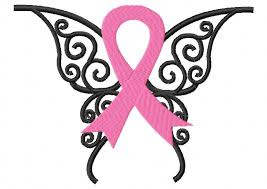 awareness ribbon butterfly embroidery design instant