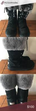 womens ugg montclair boots black ugg australia shearling cuff boot available at nordstrom