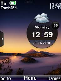 themes of java download mountain clock theme nokia theme mobile toones