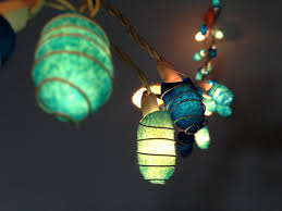35 bulbs Handmade Ocean Blue Cocoon string lights for