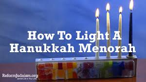 how to light chanukah candles how to light the hanukkah menorah youtube