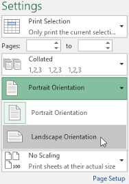 excel 2016 page layout and printing full page