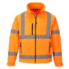 us428 port west hi vis orange soft shell jacket high visibility