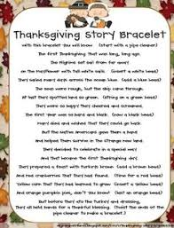 thanksgiving story bracelet thanksgiving