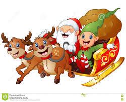 santa sleigh and reindeer santa sleigh and reindeer stock illustration