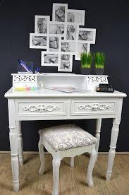 Schreibtisch Mit Computer Sekretär Schreibtisch Mit Hocker Landhaus Antik Weiß Shabby Chic