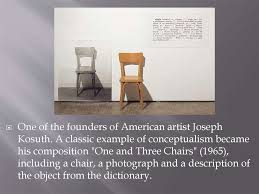 One And Three Chair Conceptual Art Online Presentation