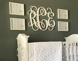 Baby Monogram Wall Decor Wooden Monograms Letters For Nursery Unique By Monogramsyletters