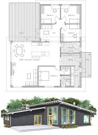 small modern floor plans modern house plan with high ceilings three bedrooms and separate