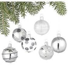 moody blues silver glitter filled ornament