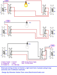 two way light switch connection throughout stair wiring diagram