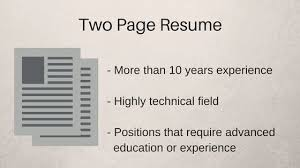 How Long Should Resumes Be Two Page Resume 2 Page Resume Example 2 Page Resumes Two Page