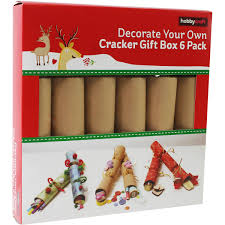 decorate your own crackers 6 pack hobbycraft
