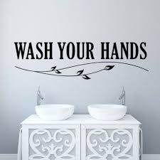 aliexpress com buy wash your hands wall sticker quotes bathroom aliexpress com buy wash your hands wall sticker quotes bathroom toilet wall decor poster waterproof art vinyl decal bathroom wall stickers from reliable