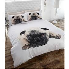 pug puppy dog full size duvet cover bed sheets animal bedding