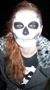 ghost face painting for halloween skeleton effortlesscool