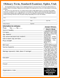 8 fill in the blank obituary template nypd resume