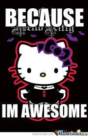 Hello Kitty Meme - goth hello kitty by metalloversteffensen meme center