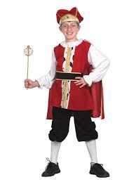 Tudor King by Boys Medieval Tudor King Fancy Dress Costume Book Week Historical