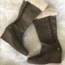ugg shoes australia brown boots poshmark ugg shoes australia felicity sz 6 wedge boots poshmark