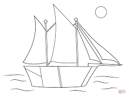 aboriginal drawing of sailing ship coloring page free printable