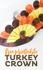thanksgiving dinner for 8 free printable thanksgiving turkey crowns printable crush