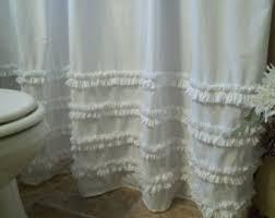 White Ruffle Curtain Panels Ruffled Linen Curtain Panels Ruffled Curtains Farmhouse