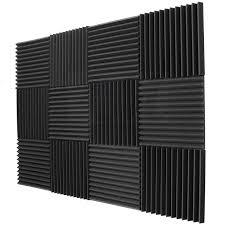 amazon com 12 pack acoustic panels studio foam wedges 1