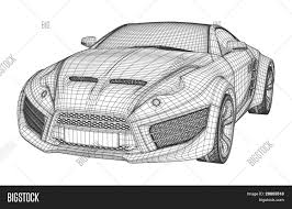 sports car drawing sports car blueprint non branded vector u0026 photo bigstock
