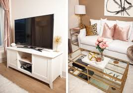 home tour a living room makeover that u0027s more than darling