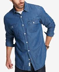 Comfort Colors Washed Denim Men U0027s Denim Shirts Shop Men U0027s Denim Shirts Macy U0027s