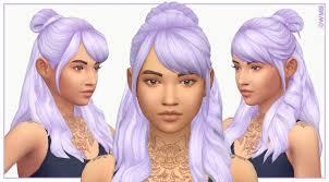 cc hair for sism4 leela hair v4 by wildlyminiaturesandwich sims 4 panda cc