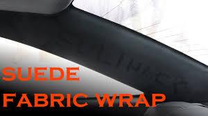 Custom Car Upholstery Near Me Suede Pillar Interior Fabric Wrap Youtube