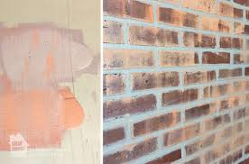 Brick Texture Paint - how to paint a faux brick wall easy diy project designer trapped