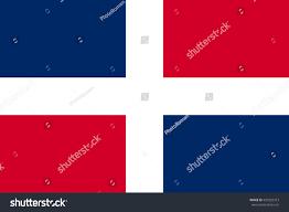Dominican Republic Flags Flag Dominican Republic Correct Size Proportions Stock Vector
